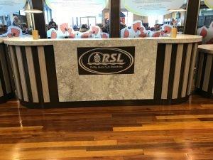 Aluminium engraved logo panel for Phillip Island RSL