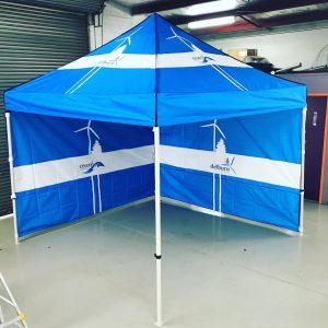 Custom printed Gazebo/Marquee for Delburn Wind Farm
